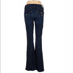 Hudson flared leg BOHO style low rise waist jeans
